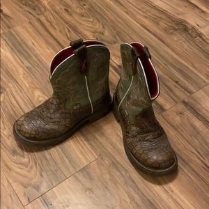 Western ware Justin Gypsy boots Green and Pink